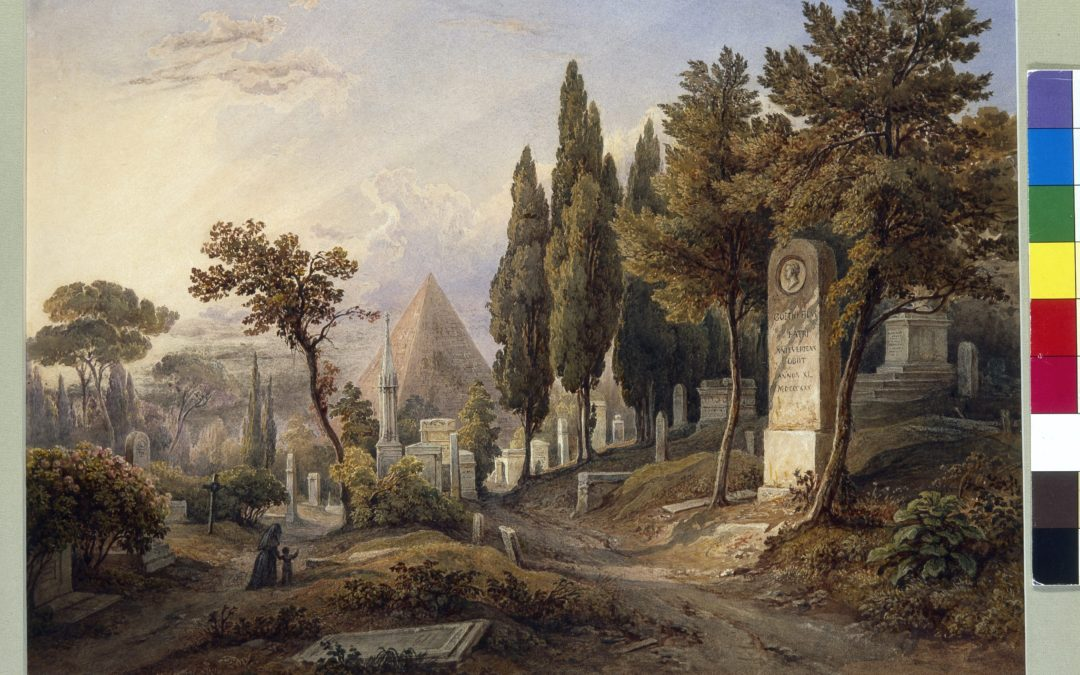 At the foot of the Pyramid, Casa di Goethe, Rome
