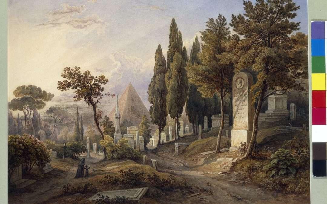 At the foot of the Pyramid, Casa di Goethe, Rome