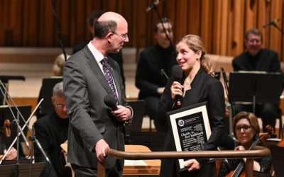 Karina Canellakis and Jennifer France presented CC Awards