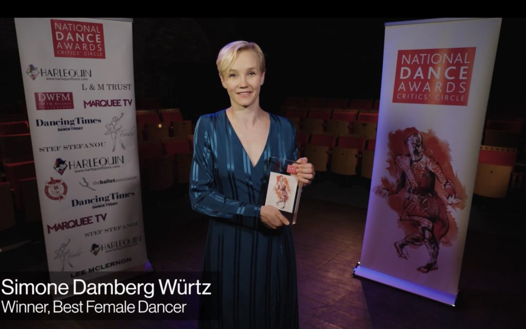 National Dance Awards Announced at a virtual ceremony from The Cervantes Theatre in London